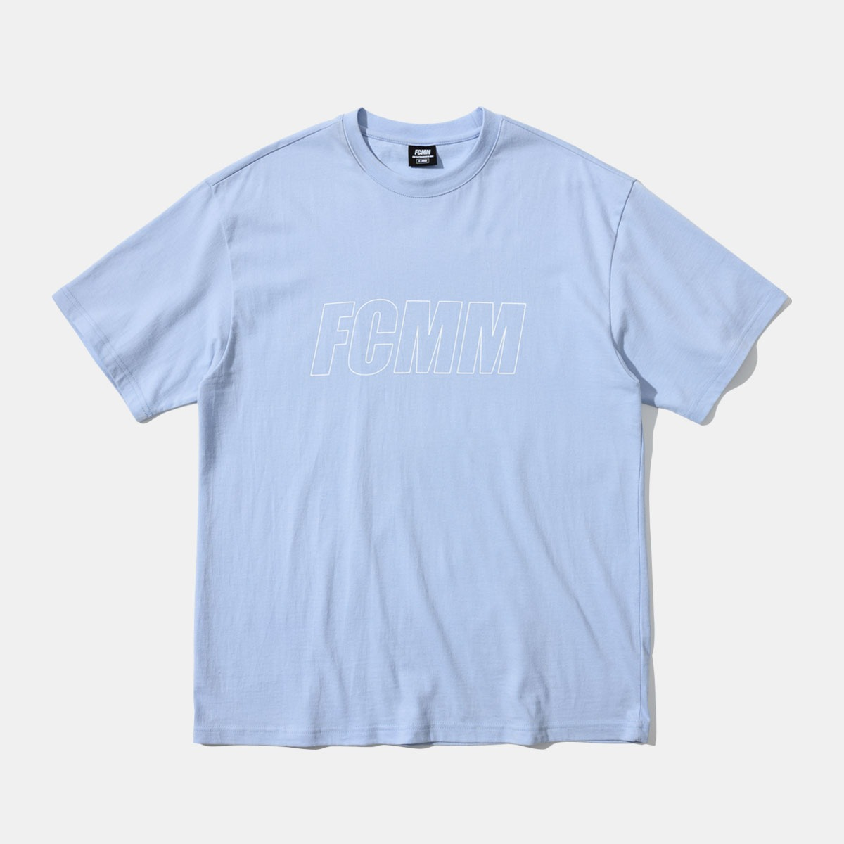 리니어 로고 티셔츠 - 스카이 블루