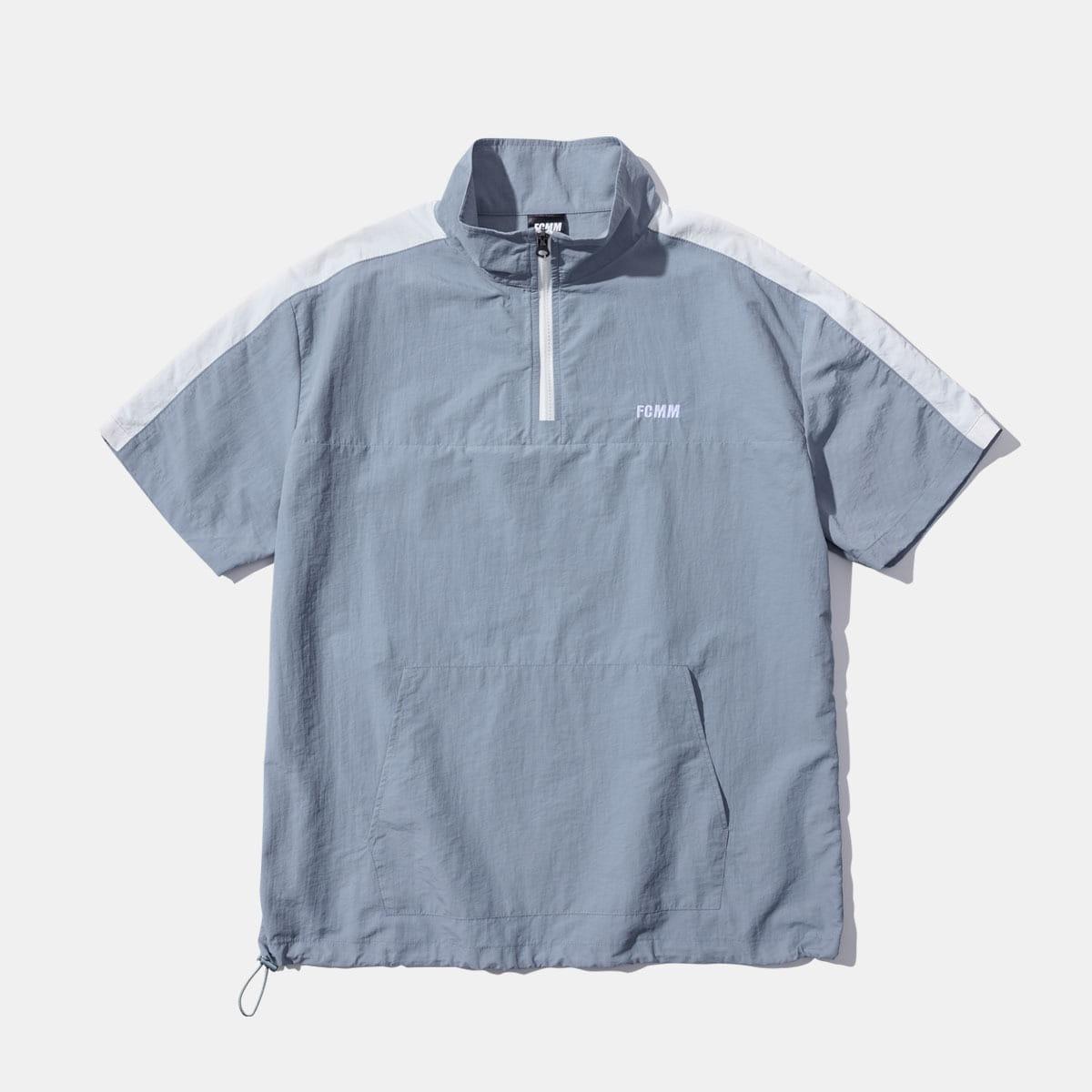 [10%할인+티셔츠 증정]쿨 레이 숏슬리브 하프집 윈드브레이커 - 쿨 그레이