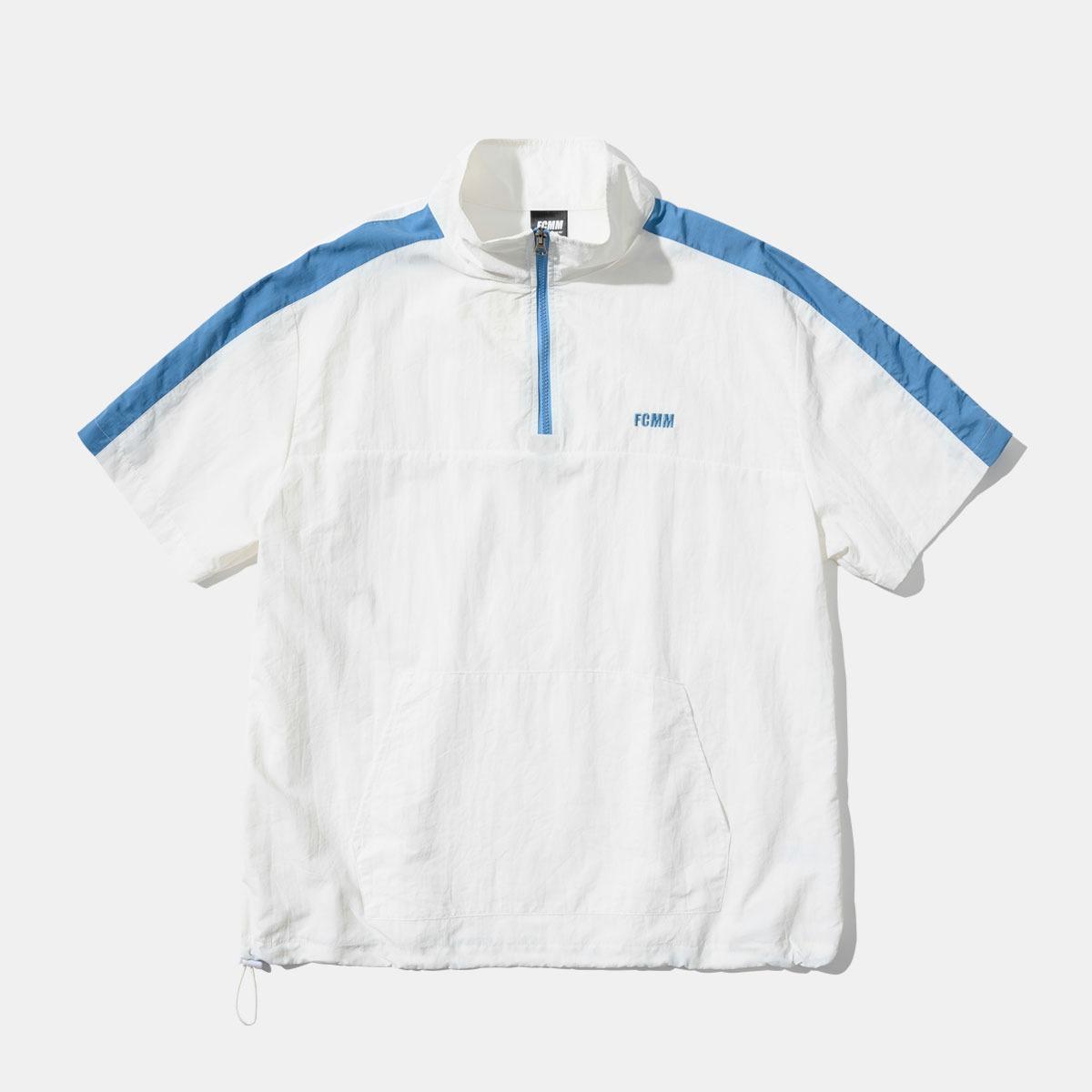 [10%할인+티셔츠 증정]쿨 레이 숏슬리브 하프집 윈드브레이커 - 화이트
