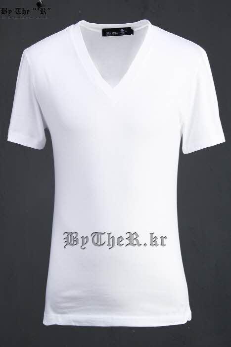 ByTheRVネック無地半袖Tシャツ