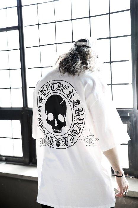 ByTheRBIGスカルロゴ半袖Tシャツ