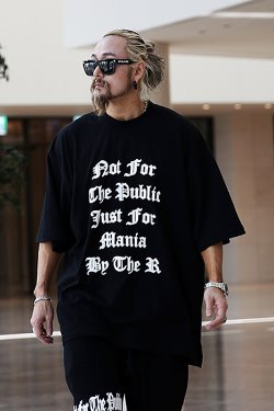 ByTheRレタードプリント半袖Tシャツ