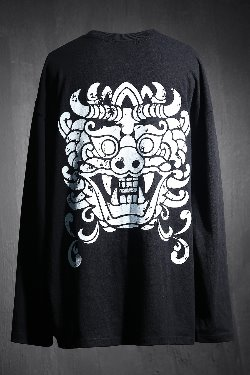 ByTheRバックプリントルーズTシャツ(ブラック)