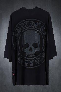 ByTheRビッグスカルロゴオーバーサイズ半袖Tシャツ