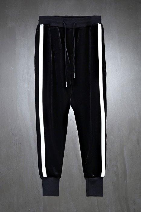 Side line velvet jogger trousers