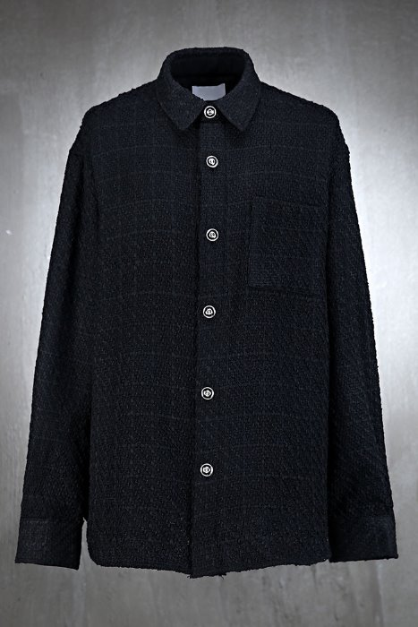 Luxury loose fit tweed shirt jacket