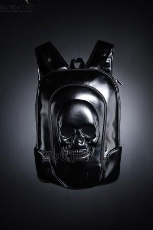 個性骷髏頭光澤後背包
