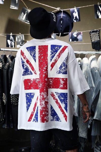 复古怀旧国旗超大款半袖T恤