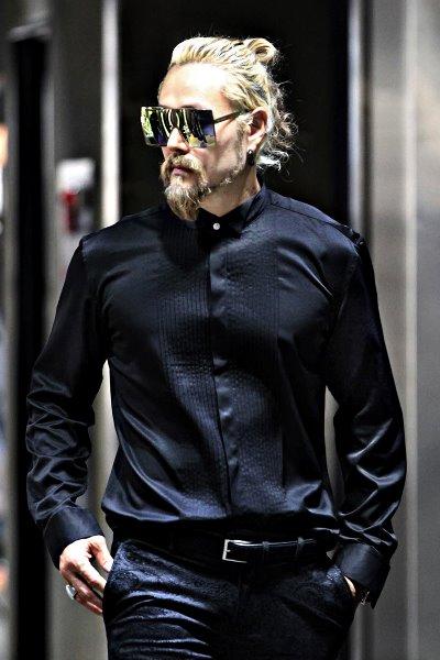 燕尾服圆领衬衫