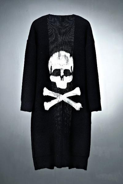 ByTheR 手绘骷髅针织外套