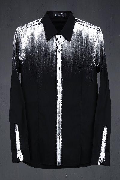 ByTheR 个性喷漆修身衬衫