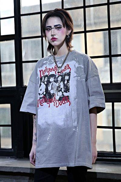 Punk Print Wash Box Short Sleeve Tee