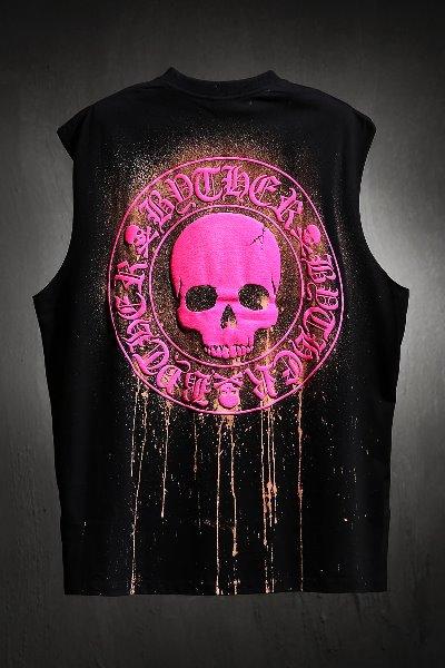 ByTheR Custom Dripping Bleach Skull Logo Cutting Box Nashi Pink