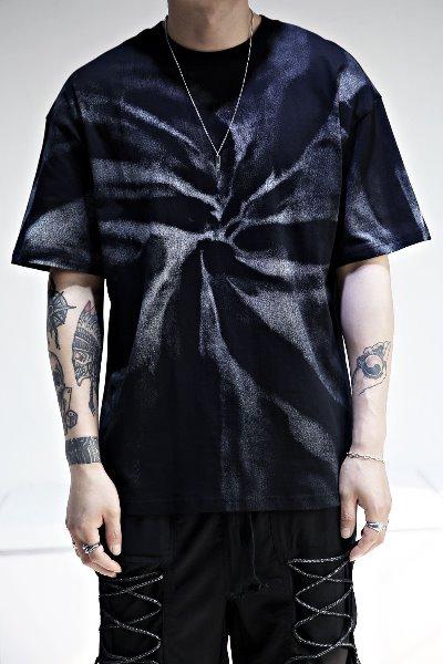 Tie-dye printing loose fit short sleeve tee