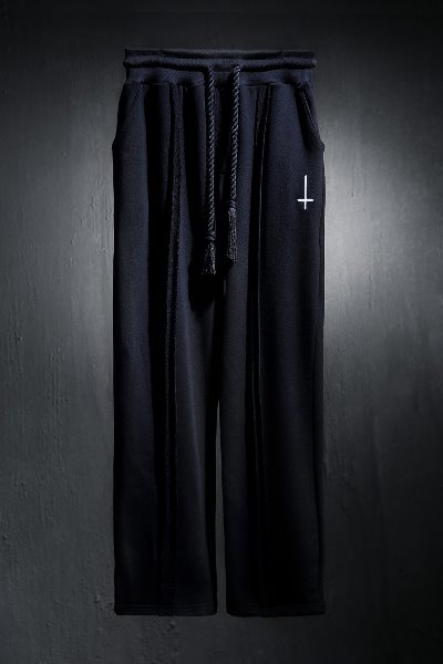 ProjectR cut-out cross-embroidered trousers