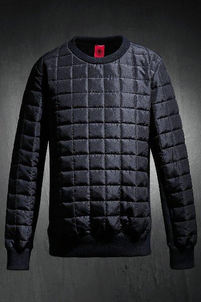 ByTheR Qualting Padded Sweatshirt Black