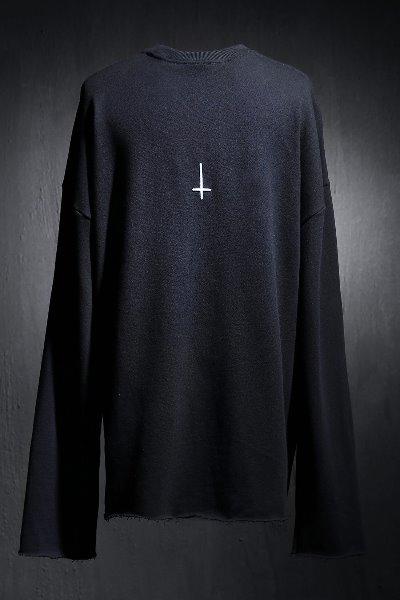 ProjectR Back Cross Embroidery Cut Long Sleeve