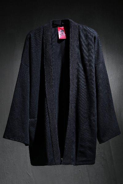 ByTheR Flat Rope Robe Cardigan Black