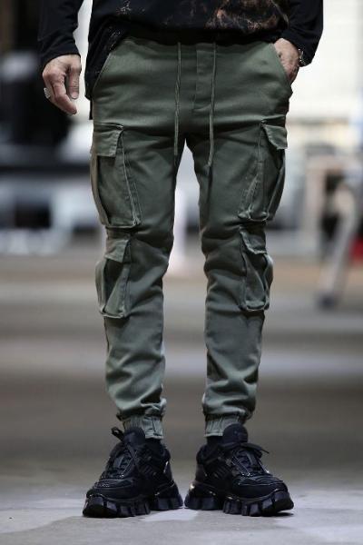 4-pocket banding jogger pants
