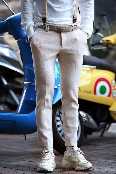 经典羊毛休闲裤