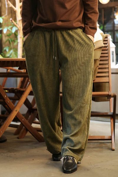 String wide corduroy trousers