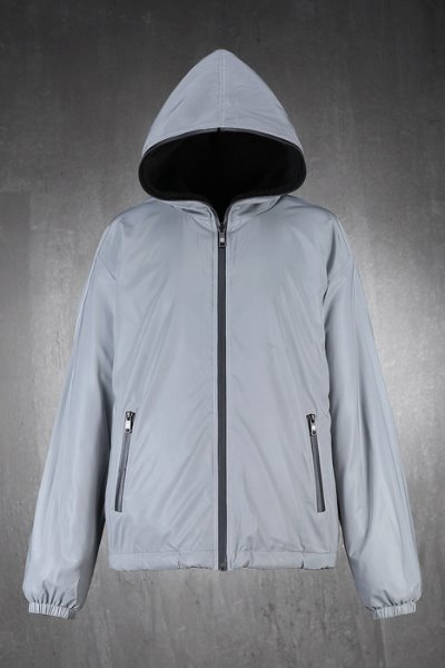 ByTheR Reflective Scotch Reversible Fleece Jacket