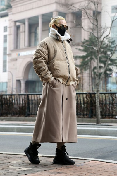 2-way Detachable Maxi Ma-1 Coat