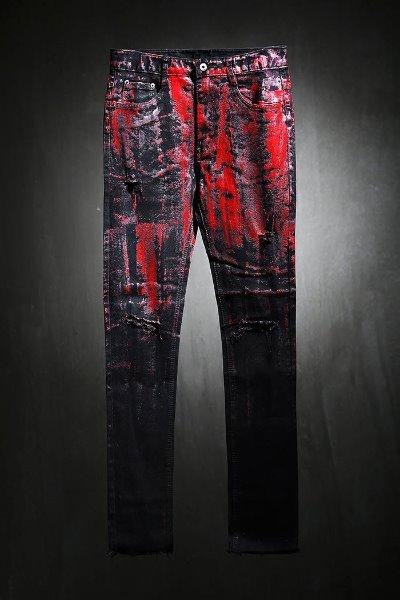 ByTheR Custom Half Red Painting Hem Cutting Knife Design