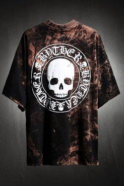 ByTheR Custom Rough Bleach 黑色骷髅图案宽松半袖
