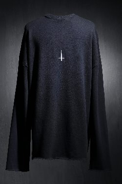 ProjectR Back Cross Embroidery Cut Long Sleeve