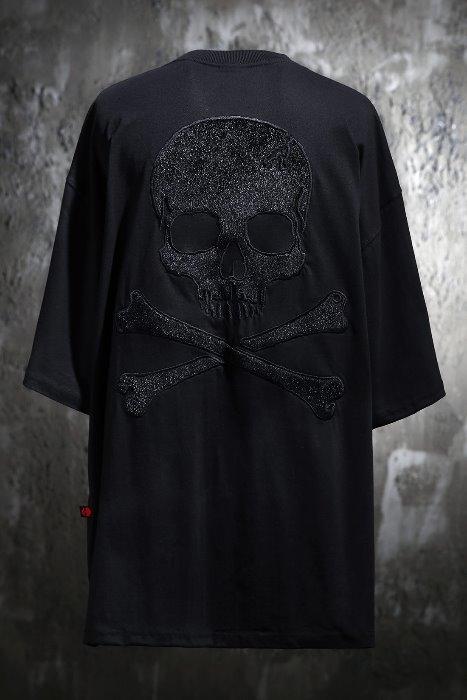 ByTheRByTheR Black Skull T-shirt