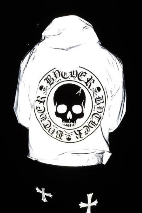 ByTheRByTheR Skull Logo Scotchlite Windbreaker