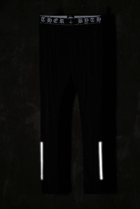 ByTheRByTheR 兩側白色短線打底褲