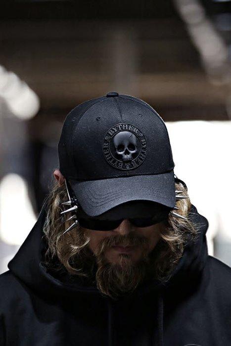 ByTheRByTheR 黑骷髅标记棉鸭舌帽