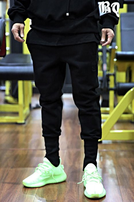 ByTheRByTheR Skull Embroidered Cotton Jogger Pants Black