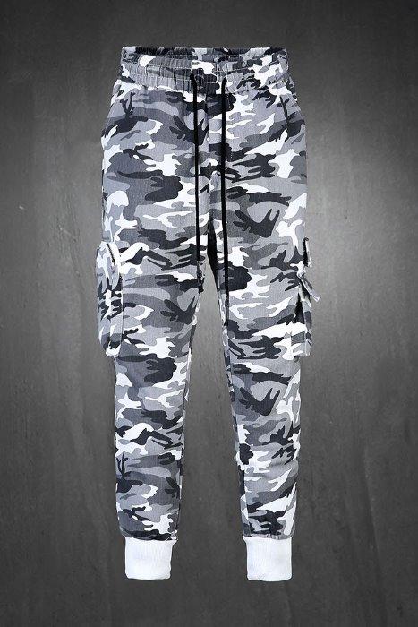 ByTheRCamo pattern zipped pocket jogger trousers