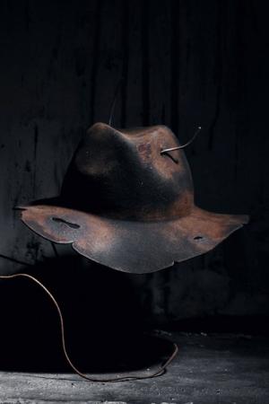 ByTheR獨特仿舊燒痕破洞紳士帽