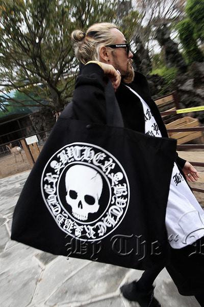 ByTheRByTheR Skull Logo Oversized Tote Bag
