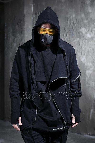 ByTheR不對稱三角邊帽子衛衣