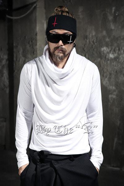 ByTheRByTheR 立領垂墜設計純棉素色T恤