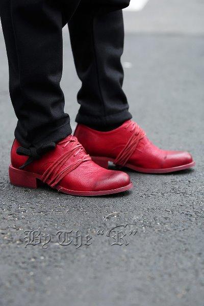ByTheR长鞋带德比鞋