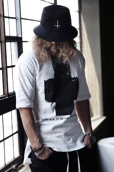 ByTheR十字印花半袖T恤