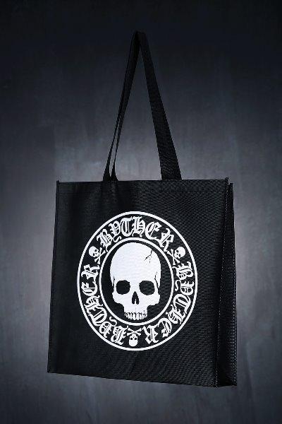 ByTheRByTheR 骷髅图案标语购物袋
