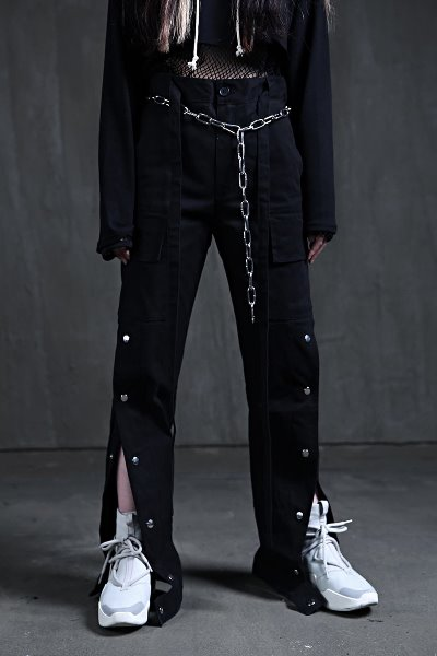 ByTheR侧扣工装裤