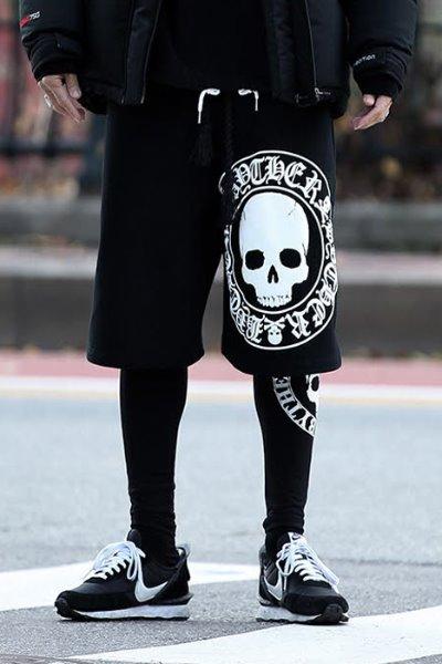 ByTheRByTheR骷髅图标印刷短裤