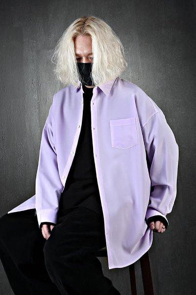 ByTheR简约宽松紫罗兰色衬衫