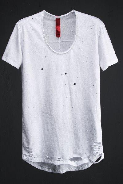 ByTheRByTheR 個性手工噴點復古T恤