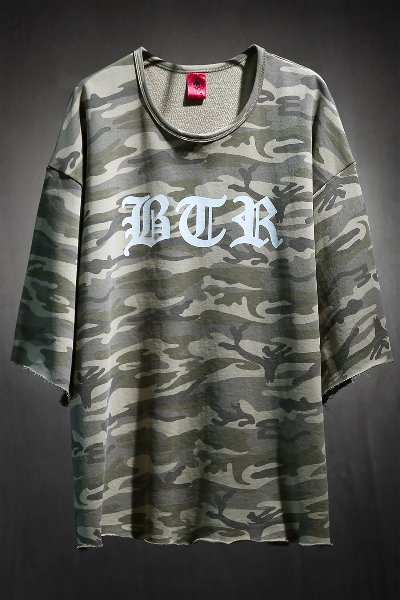 ByTheRByTheR Lettering Logo Military Cut Short Sleeve Tee