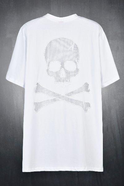 ByTheRByTheR白色網骷髏寬鬆T恤