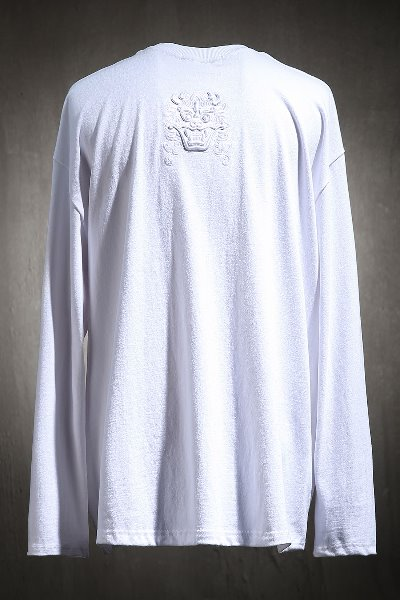 ByTheRByTheR Goblin Embroidered Long Sleeve White